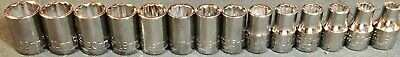 Rare 14 Piece Set- Unused Craftsman 1/2 Inch Drive Metric Sockets12 Pt Usa Made