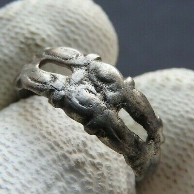 RARE Ancient silver Vikings ring Kievan Rus XI-XIII centuries A.D. Size 17mm