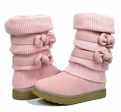 DREAM PAIRS Girl's Winter Snow Boots Faux Fur Lined Mid Calf Shoes size US13KIDS