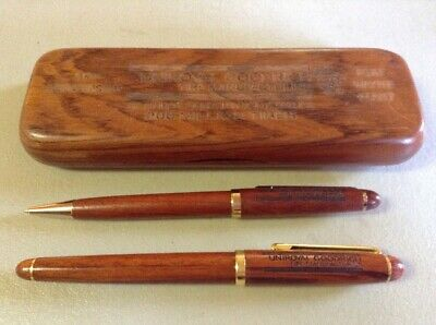 UNIROYAL GOODRICH TIRE MANUFACTURING 35th ANNIVERSARY ADVERTISING PEN SET IN WOO