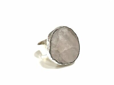 Jacob Hull Statement Ring, Frosted Quarz, Denmark Modernist Ring
