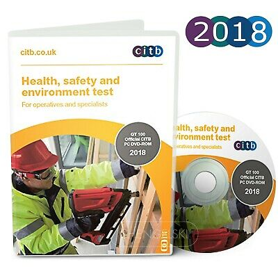 CSCS Card Test DVD/ROM 2018 Health & Safety Operatives  EU voiceovers