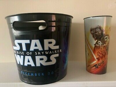 Star Wars The Rise Of Skywalker Round Popcorn Bucket with Promo Cup