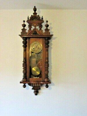 A 19th or Early 20th Century Kienzle Mahogany Wall Clock