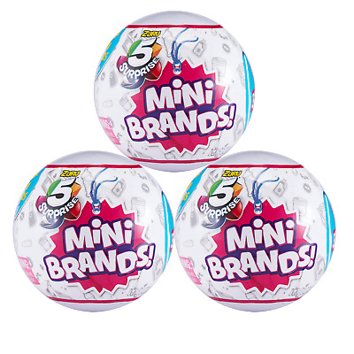 5 SURPRISE Mini Brands Mystery Capsule Collectible Toy (3 Pack) - Authentic