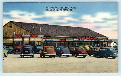 Car Dealerships In Cheyenne Wy >> 1940 Postcard Transportation Center Bus Depot At Night