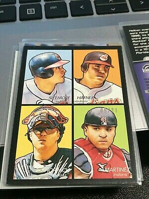 Travis Hafner/VictOR Martinez 2009 Upper Deck Goudey 4-In-1 Black #9/21! KXV3