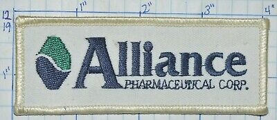 Alliance Pharmaceutical Corp Drug Company Advertising Vintage Patch