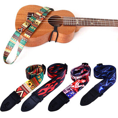 Colorful Nylon Guitar Strap Adjustable Bass Belt For Electric Or Acoustic Guitar