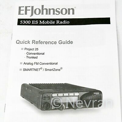 EF Johnson 5300 ES Mobie Radio HHC Quick Reference Guide