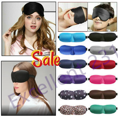 3D Eye Mask Rest Travel Sleep Aid Shade Cover Soft Sponge Padded Blindfold 2020