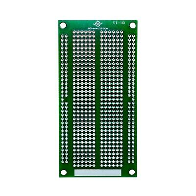 "DIY Proto Perf Board, Permanent Breadboard with Solder Mask 4""x2"", ST-110"