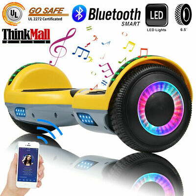 """6.5"""" Bluetooth Hoverboard LED Self Balancing Electric Scooter UL Yellow No Bag"""