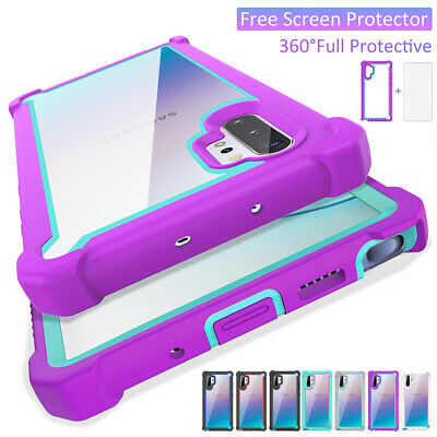 For Samsung Galaxy S10 Plus Note 10 Clear Shockproof Bumper Hybrid Case Cover