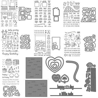 Animal Heart-shaped Combination Stamps Metal Cutting Dies DIY Stencil Crafts