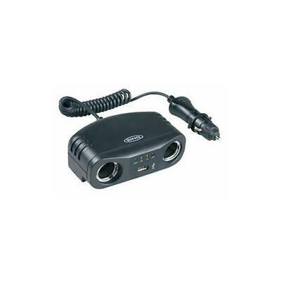 RMS7 Ring Automotive Twin 12V Multisocket With Usb