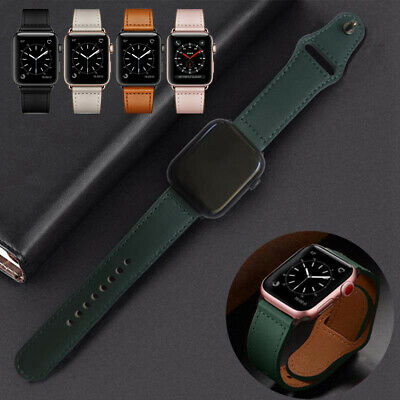 For Apple Watch Series 5 4 3 2 Genuine Leather iWatch Band Strap 38/42mm 40/44mm