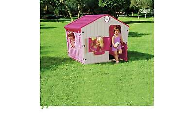 NEW Kids Playhouse Toy Indoor Outdoor Wendy House Pink Play Houses