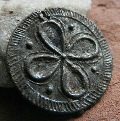 Coin-shaped pendant with a drawing of the Vikings Kievan Rus 10-11 AD
