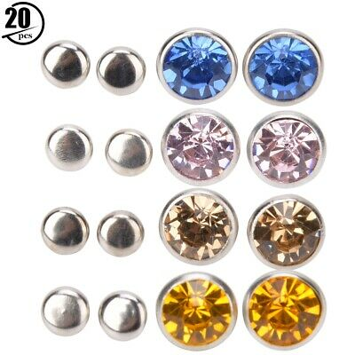 100Pcs 9mm  Crystal Rhinestones Rivet Tack with Studes Red for Leather Bracelets