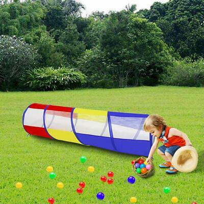 Kids Childrens Baby Pop-Up Play Tunnel Tent Girls Boys Playhouse Indoor Outdoor
