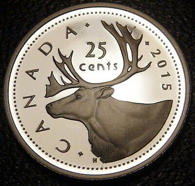 2015 Canada SILVER PROOF 25 Cents from Proof Set
