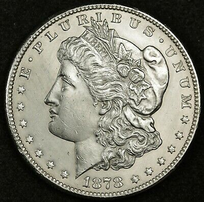 1878-s Morgan Silver Dollar.    B.U.  Inventory H. 139745