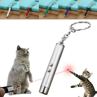 2 in 1 Red Laser Lazer Pointer Pen + LED Light Cat Toy Mini Interactive Cat Toys