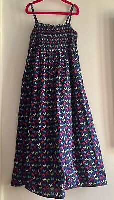 Marks & Spencer Girls Cotton Smocked Maxi Dress. Aged 8. Excellent Condition.