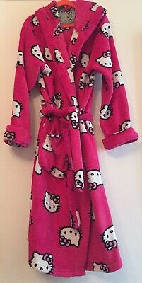 Marks & Spencer Fleece Hello Kitty Dressing Gown. Aged 11-12. Great Condition.