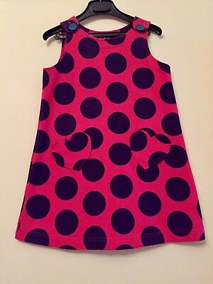 Mini Boden Pink Spotted Dress. Aged 5-6 Years. Immaculate.