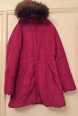Joules Pink Padded Fleece Lined Coat. Aged 11-12. Immaculate.