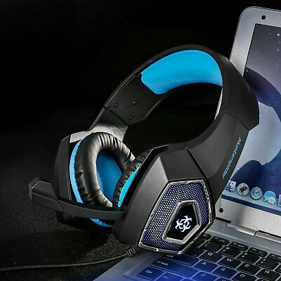 Hunterspider Stereo Bass Gaming Headset Surround Mic for PC PS4 Xbox One Switch