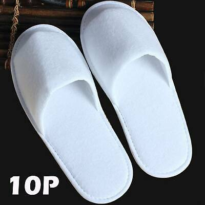 10 pairs SPA HOTEL TOWELLING DISPOSABLE TERRY STYLE OPEN TOE GUEST SLIPPERS