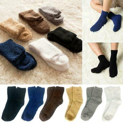 6 Pairs Winter Cosy Bed Socks Mens Fluffy Home Sock Thick Indoor Warm Soft