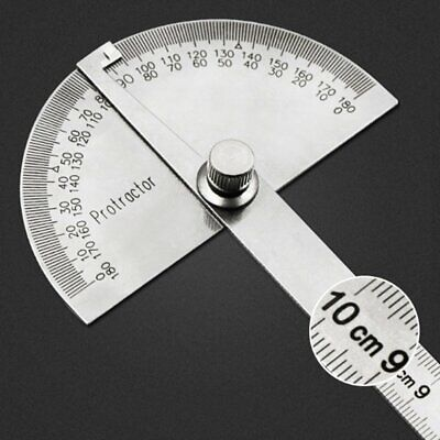 Stainless Steel 180 degree Protractor Angle Finder Arm Rotary Measuring Ruler TR