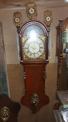 antique dutch long tale clock 18 hundreds great condition with moon and dateRARE