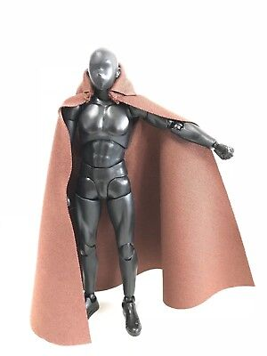 "SCALA 1//12 Nero Cape Mantello modello per 6/"" Figma SHF body doll"