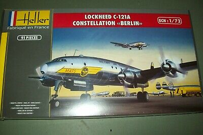 Lockheed C-121A Constellation Berlin Flugzeug 1:72 Model Kit Heller 80382