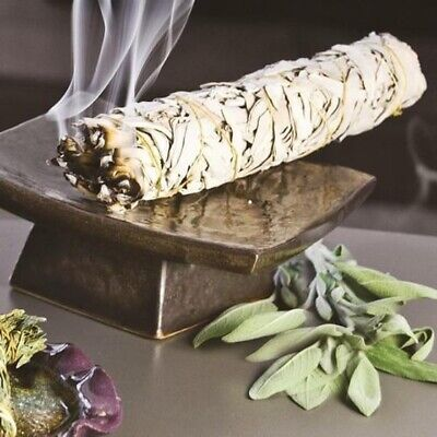 "1 White Sage Smudge Stick 3""- 5"" House Cleansing Remove Negativity"