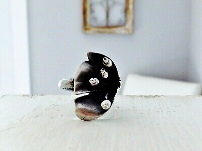 Arts & Crafts CALLA LILY Sterling Silver 925 Sculpted Danish Modern Size 7 Ring