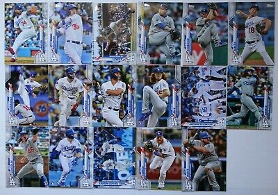 2020 Topps Series 1 Los Angeles Dodgers Base Team Set of 17 Cards