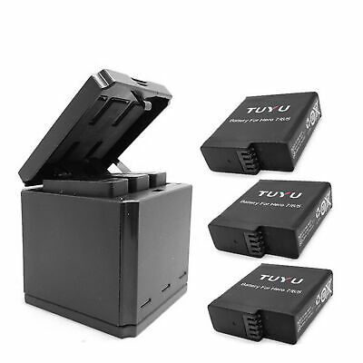 For Gopro Hero 8 7 6 5 3 slots travel charging box Battery charger