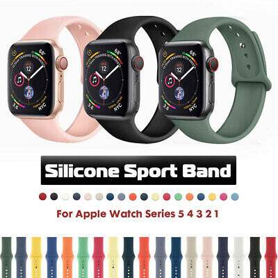 Sports Silicone iWatch Band Strap for Apple Watch Series 5 4 3 2 1 38/42/40/44mm