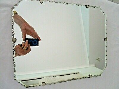 Antique Mirror Bevelled Edges Wooden Back