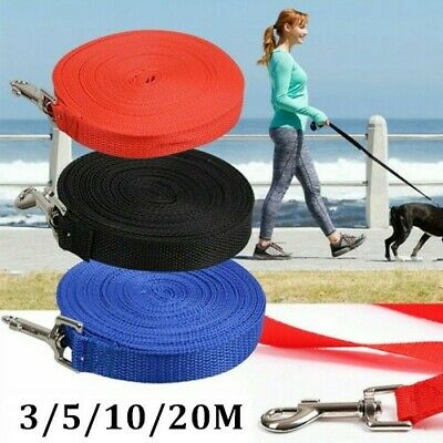 Pet Dog Training Lead Puppy Leash Collar Harness Long Line Strong Rope 5/10/20M