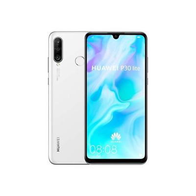 Huawei P30 Lite Smartphone - Midnight Black, Pearl White & Peacock Blue