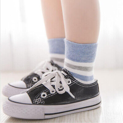 5Pairs Baby Boy Girl Cartoon Cotton Socks Infant Kids Soft Striped Sock 0-3Y