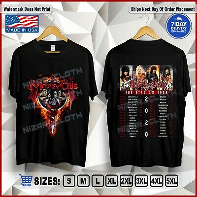 "New Motley Crue T-Shirt ""The Stadium Tour 2020"" with Update Dates Shirt S-5XL"