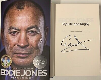 Eddie Jones My Life And Rugby Limited Signed Edition Hardback Book England Sport
